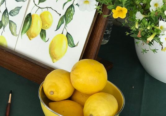 Williams' Paint Party: Summer Lemons