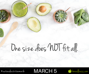 One size does NOT fit all.
