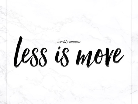 9.19.16: Less is More