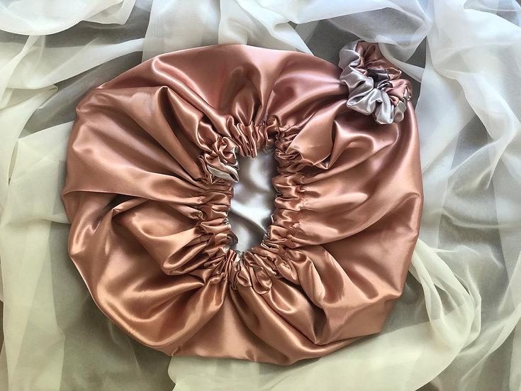 Custom Reversible Satin Bonnets