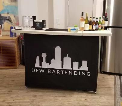 DFW Bartending Black Wrap