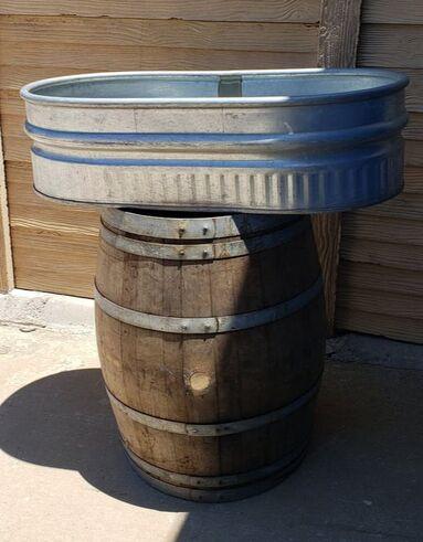 Wine Barrel Tub