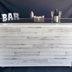 White Wash Wood Bar