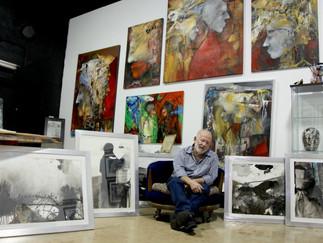 """El pintor cubano Vicente Dopico exorciza sus """"demonios"""" con su nueva exposición"""
