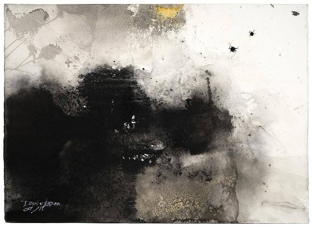 After fog, 2018, tinta sobre papel, de Vicente Dopico-Lerner.  CORTESÍA/Vicente Dopico