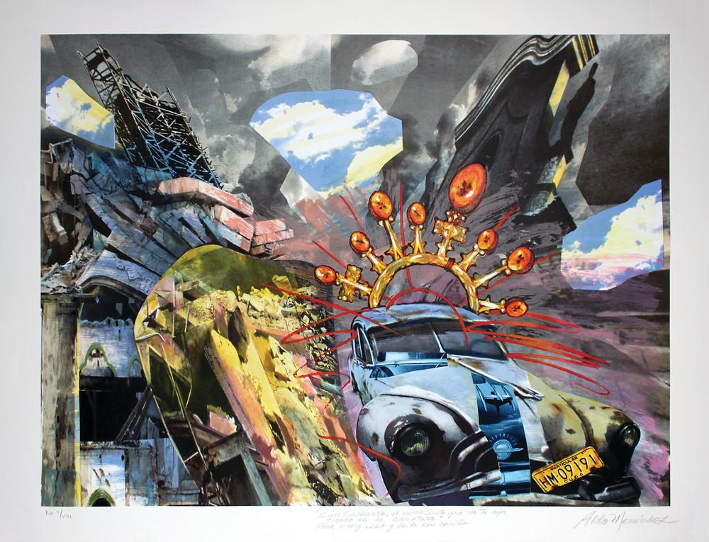 """La casa Cuba I"""" (2008), de Aldo Menéndez. Técnica mixta sobre lienzo, 40 x 30"""". Rodríguez Collection"""