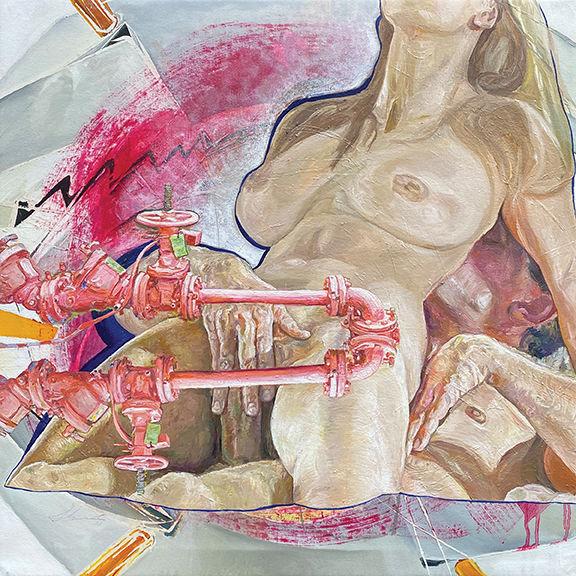 Sheila Fraga, Galerie, 2021, oil on canv