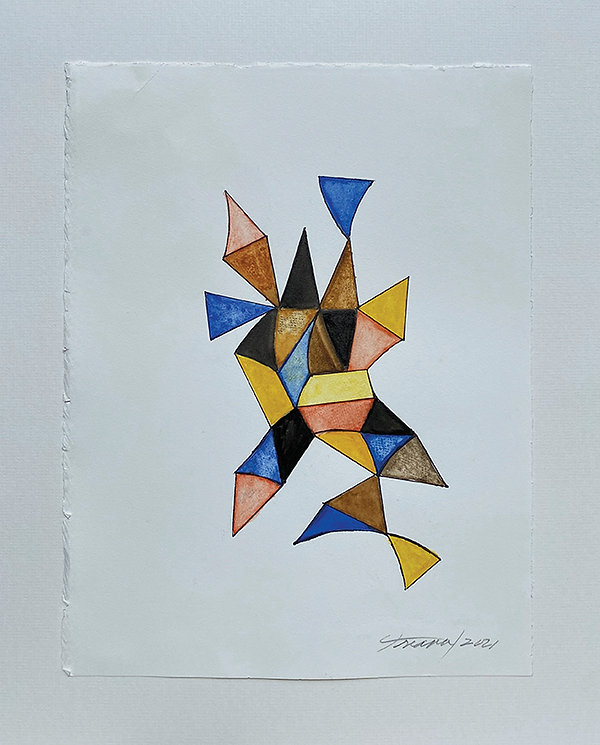 Gladys Triana, Untitled, 2021, watercolo