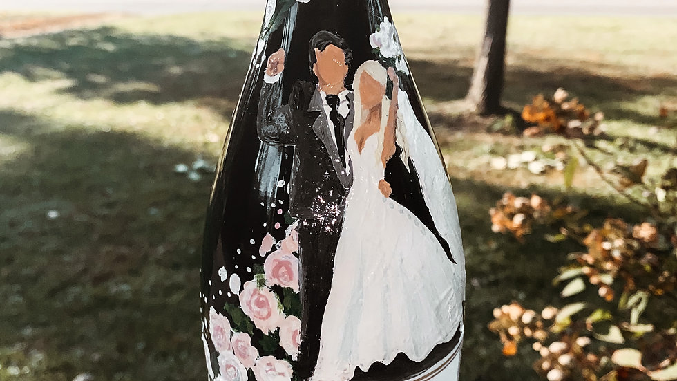 Decorated Champagne Bottle