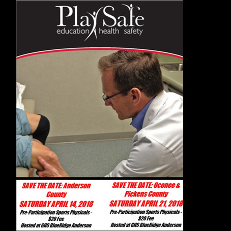 2018  PlaySafe Physicals Registration is Open