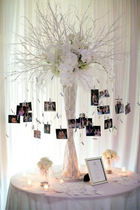 white-tree-with-pictures-hanging