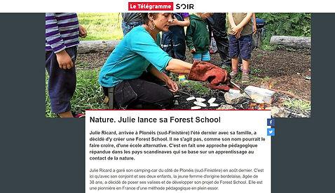 Autur du Feu - Forest school dans Télégramme