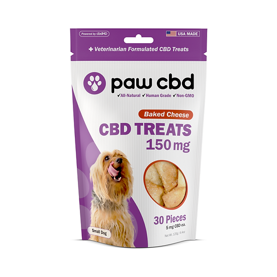 Pet CBD Oil Treats for Dogs - Baked Cheese - 150 mg - 30 Count