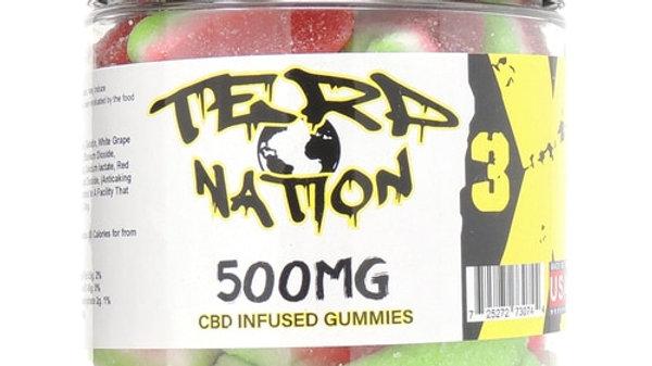 Terp Nation Gummies 500mg