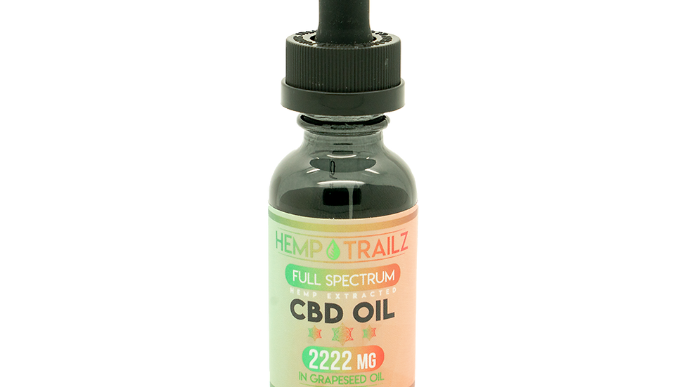 Hemp Trailz 2222mg of Full Spectrum CBD Oil