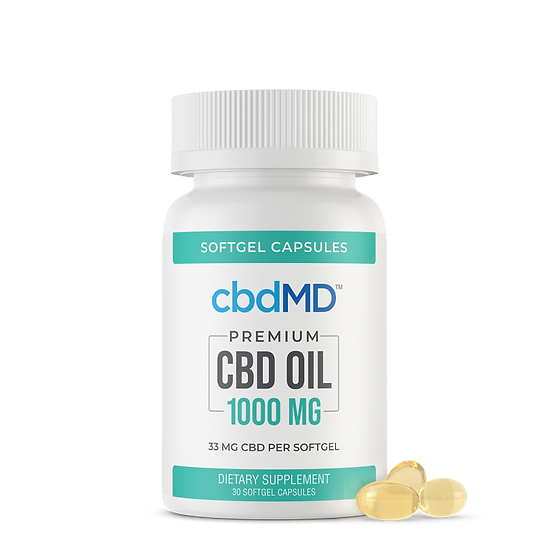 CBD Oil Softgel Capsules - 1000 mg - 30 Count