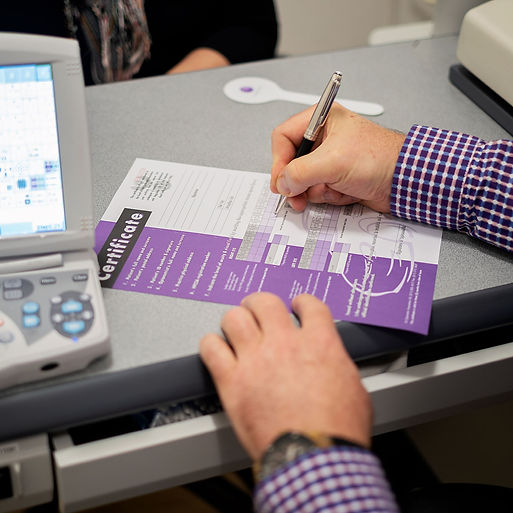 Visual screening for competency certificates