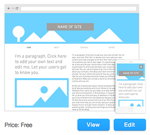 blank website templates create your dream website