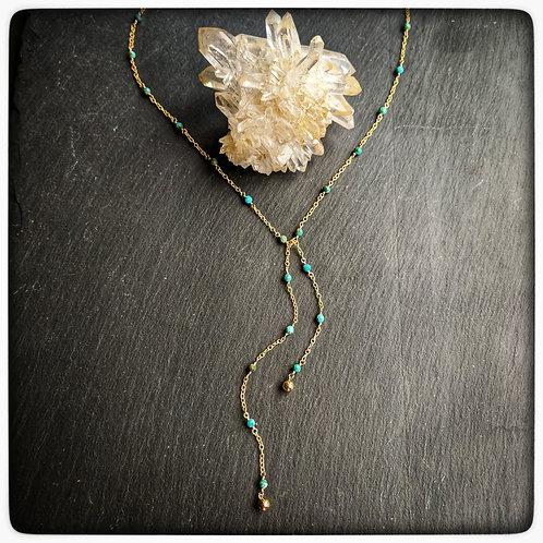 Delicate Stone Lariat