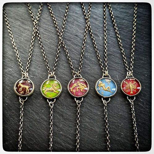 Antique Zodiac Necklace