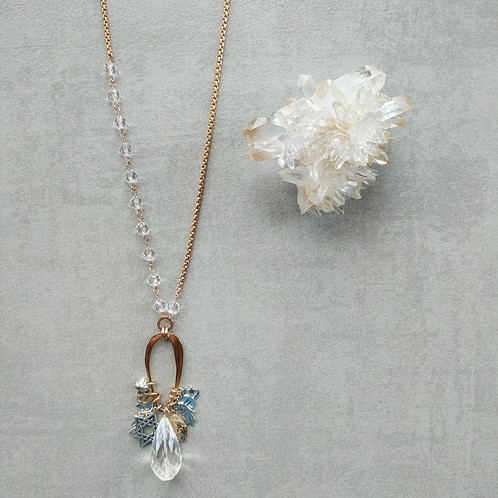 Rock crystal coexist necklace the letter g design shop jewelry rock crystal coexist necklace aloadofball Gallery
