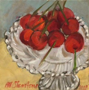 A Dish Of Cherries