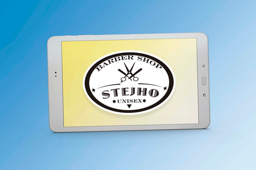 Logotipo Peluquería Stejho