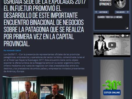 Ushuaia sede de la ExpoLagos 2017 El In.Fue.Tur promovió el desarrollo de este importante encuentro