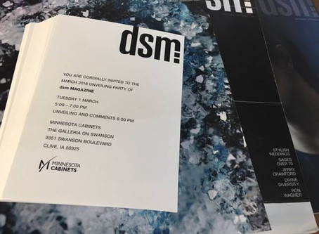 Join Us! dsm Magazine Unveiling Party | March 1st at Minnesota Cabinets