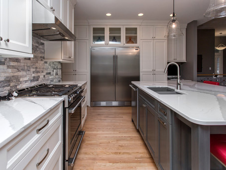 Grey and White Custom Kitchen – Before & After Photos