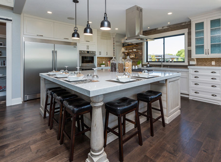 Coastal Meets Farmhouse – Home Show 2016 Custom Kitchen
