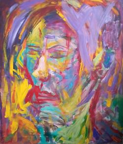Portret    97 cm x 112 cm, akryl