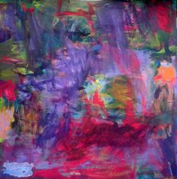 Abstrakcja 130 cm x 130 cm