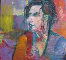 Autoportret  120 cm x 130 cm, akryl