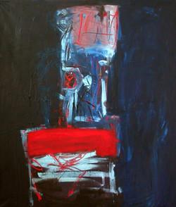 Krzesło 120cm x 130 cm, olej