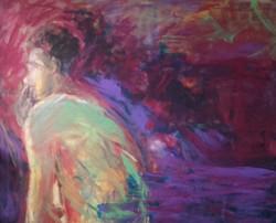 Mężczyzna z papierosem, 130 cm x 150