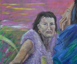 Kobieta w futrze 130 cm x 140 cm
