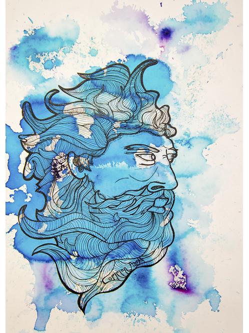 Poseidon Watercolor