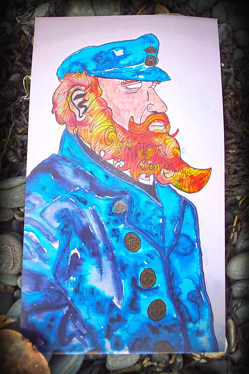 Sea Captain Watercolor