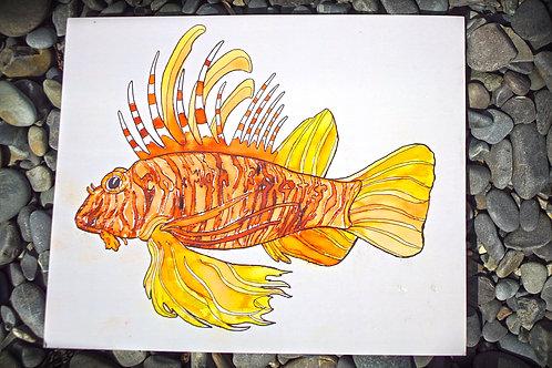 Lion Fish Watercolor