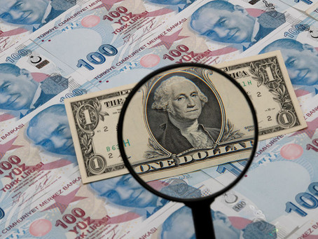 Mixed Dollar like IPC, Minutes Cement Tapering Expectations; Lira falls to a new low