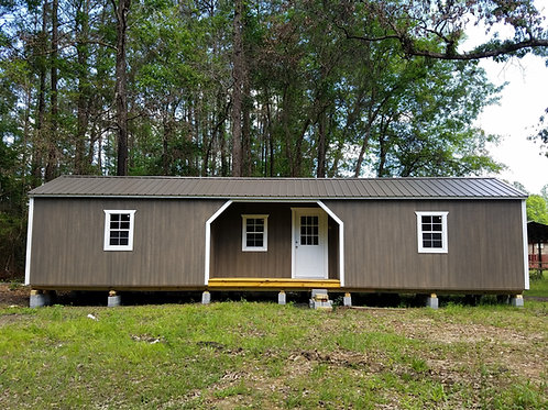 12x44 Middle Porch Cabin w/ electric