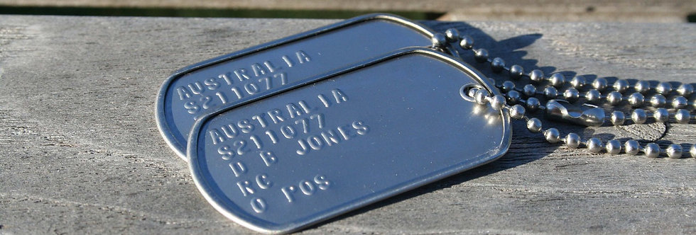 US Dull Finish ID Tags X 174 - Wholesale