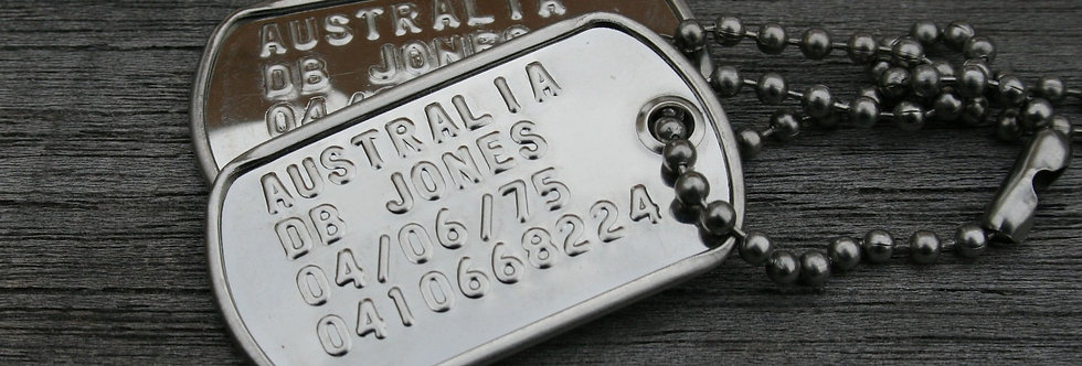 Small Stainless Steel US - 'Min'i Tags