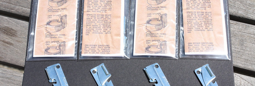 P-38 (C Ration) 4 Pack of Can openers