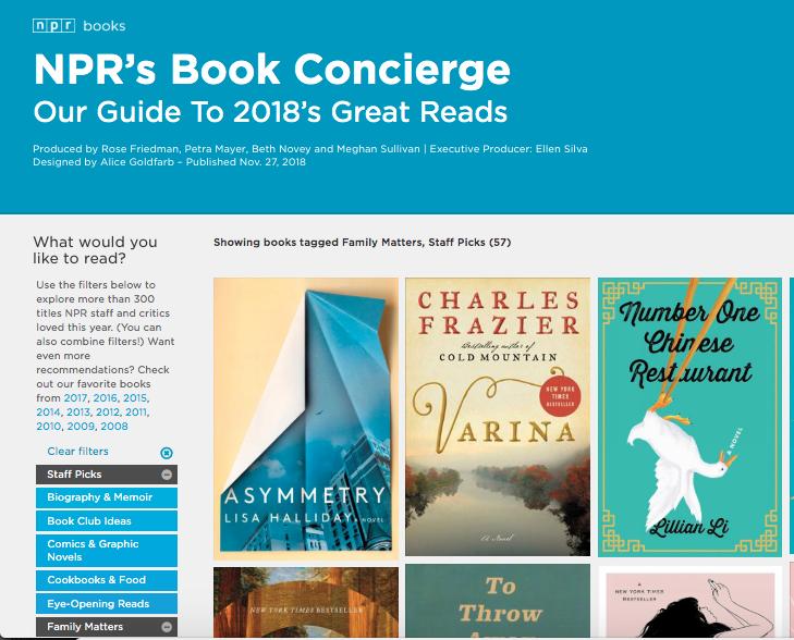 NPR Best Book of 2018