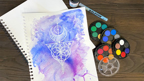 6 Steps for Creating Geometric Designs in Watercolor