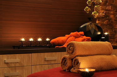 Wellness and spa concept with candles, c