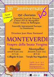 2013 : 3 chœurs pour Monteverdi