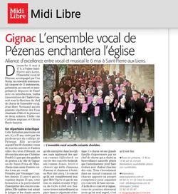 Midi Libre Concert Gignac